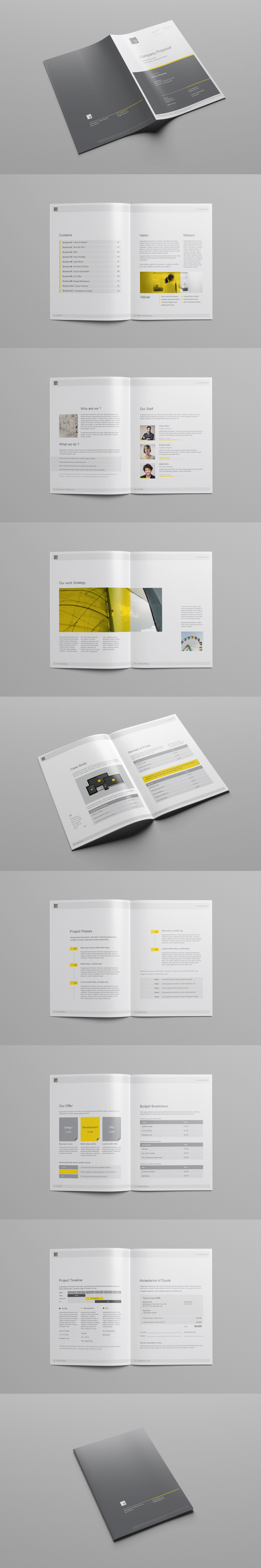 Company Proposal Template Design