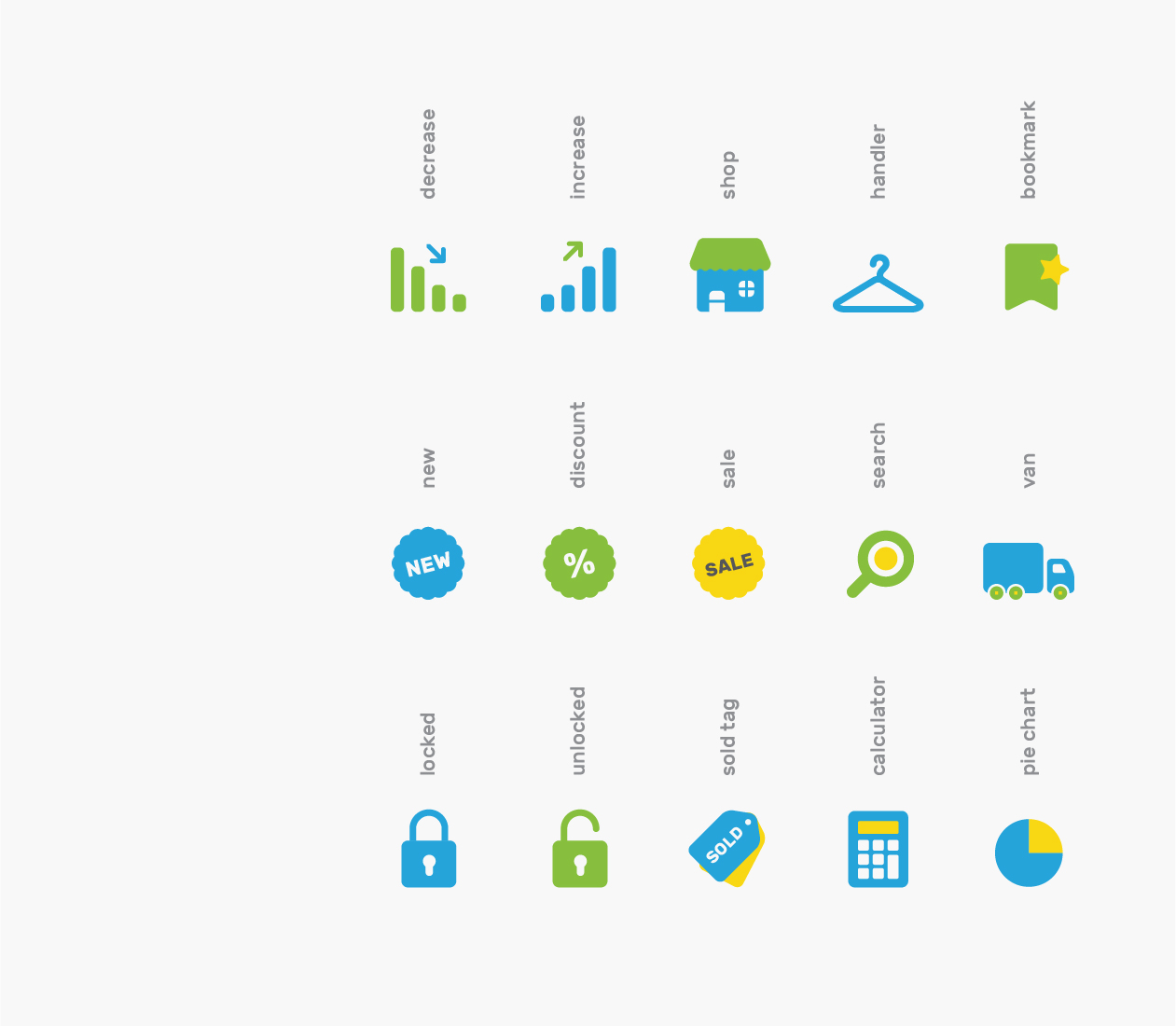 Branded Icons - Shopping
