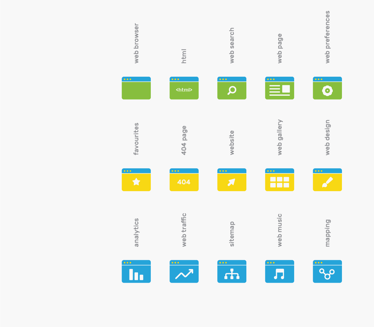 Branded web browser icons