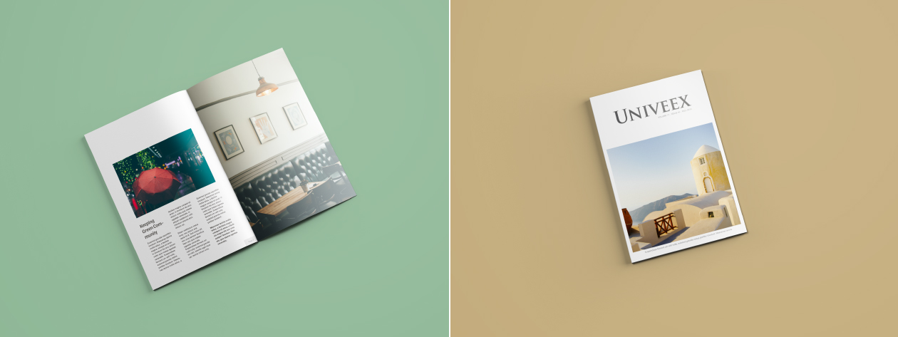 isolated magazine mockup