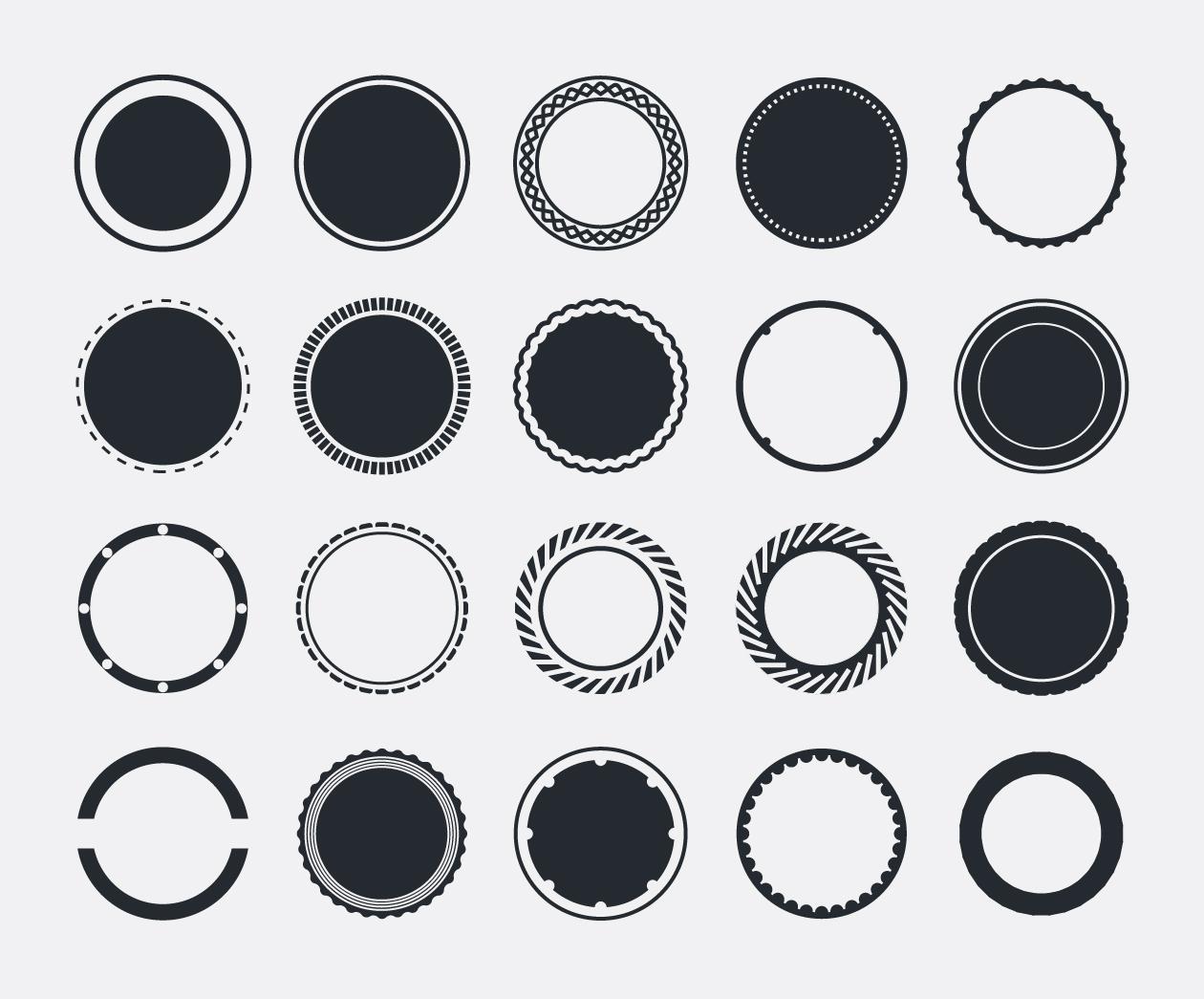 Design Elements - Badges Circles