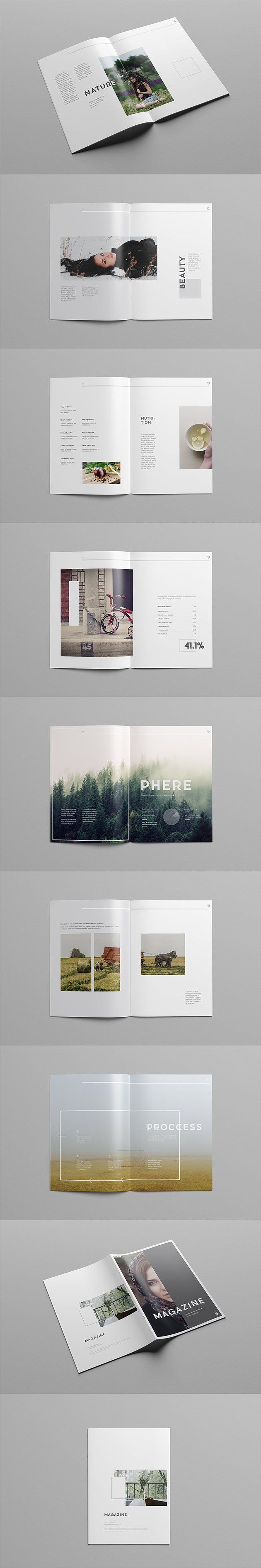 Simple Illustrator Magazine Template