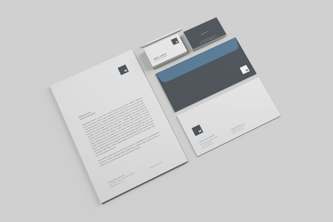professional stationery mockup