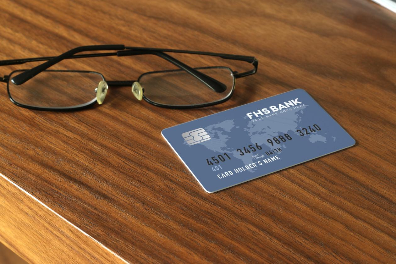 Atm card mockup