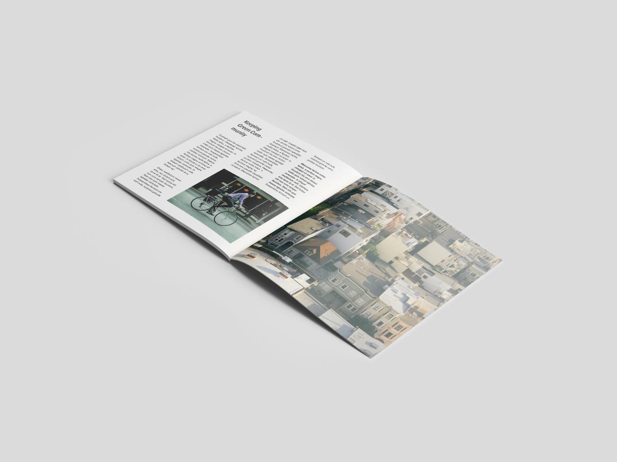 perspective open square magazine mockup