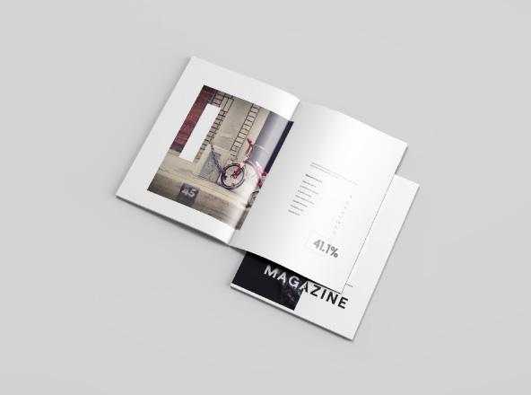 Letter Magazine Mockup Free Psd