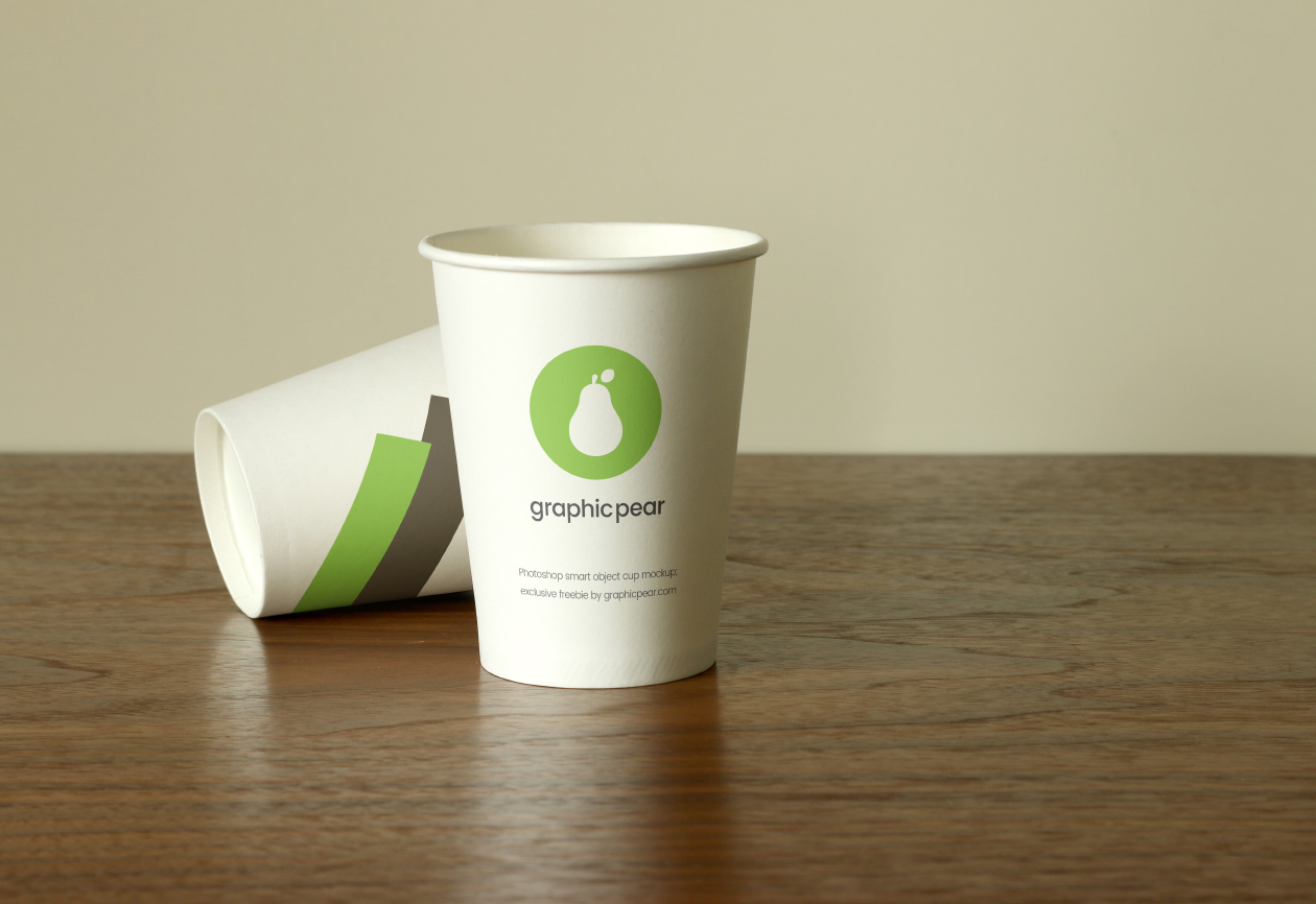 two cup mockups
