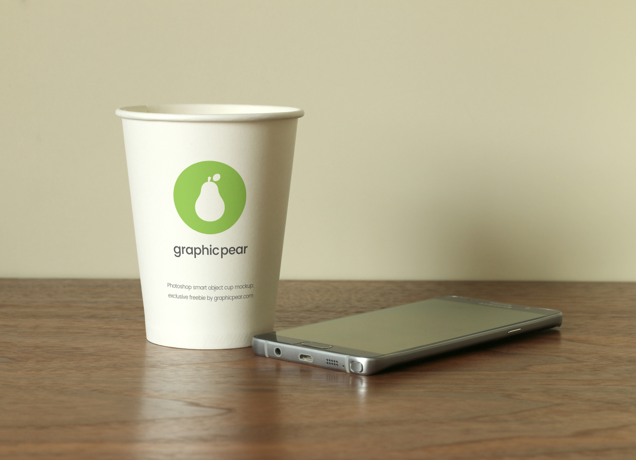 cup and mobile mockup