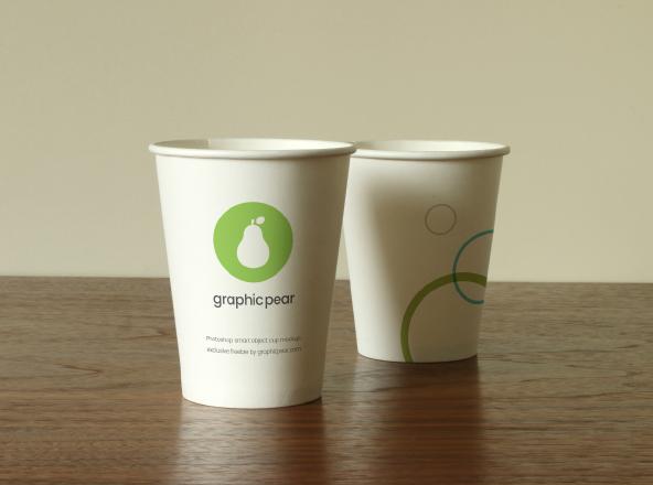 Disposable Cup Presentation Mockup