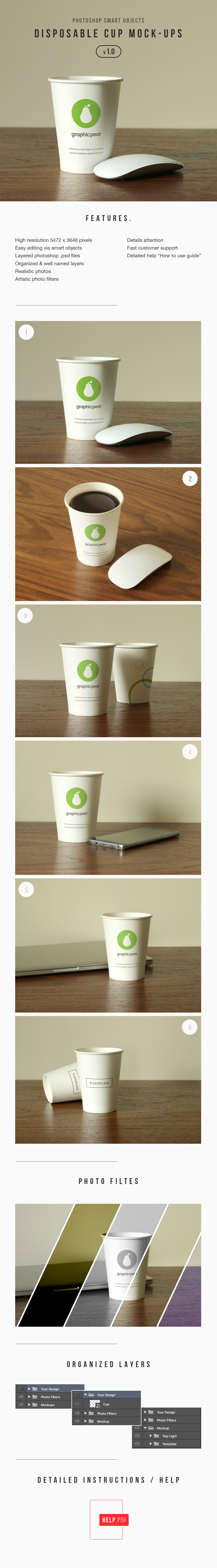 Disposable Cup Mockup