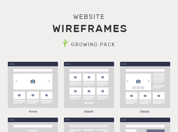 Wireframe Website Mockups