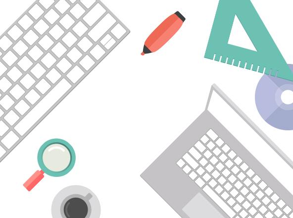 Flat Office Desk