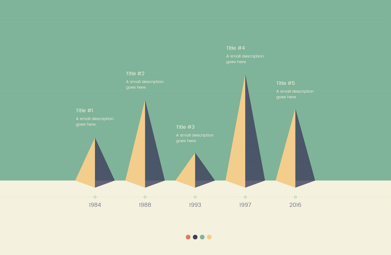 Pyramid Timeline Vector Infographic
