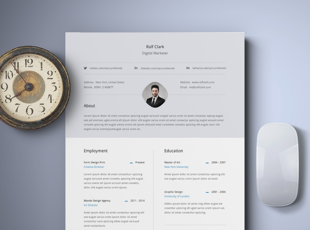 Classy Resume Template