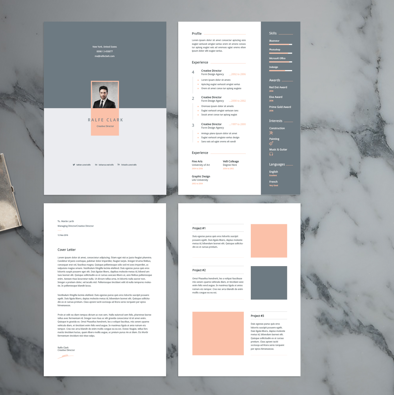 resume and cover template