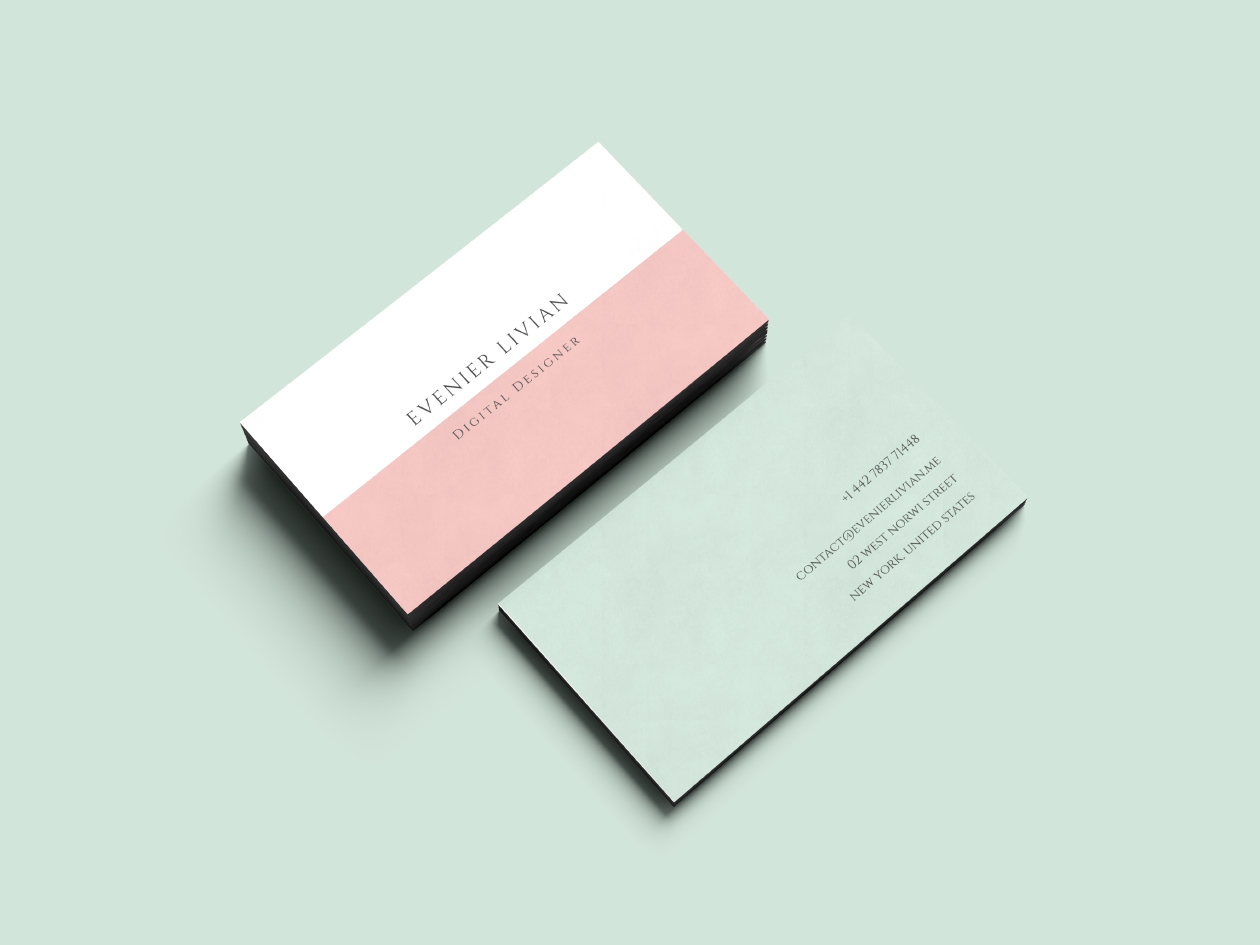 minimal business card template free business card
