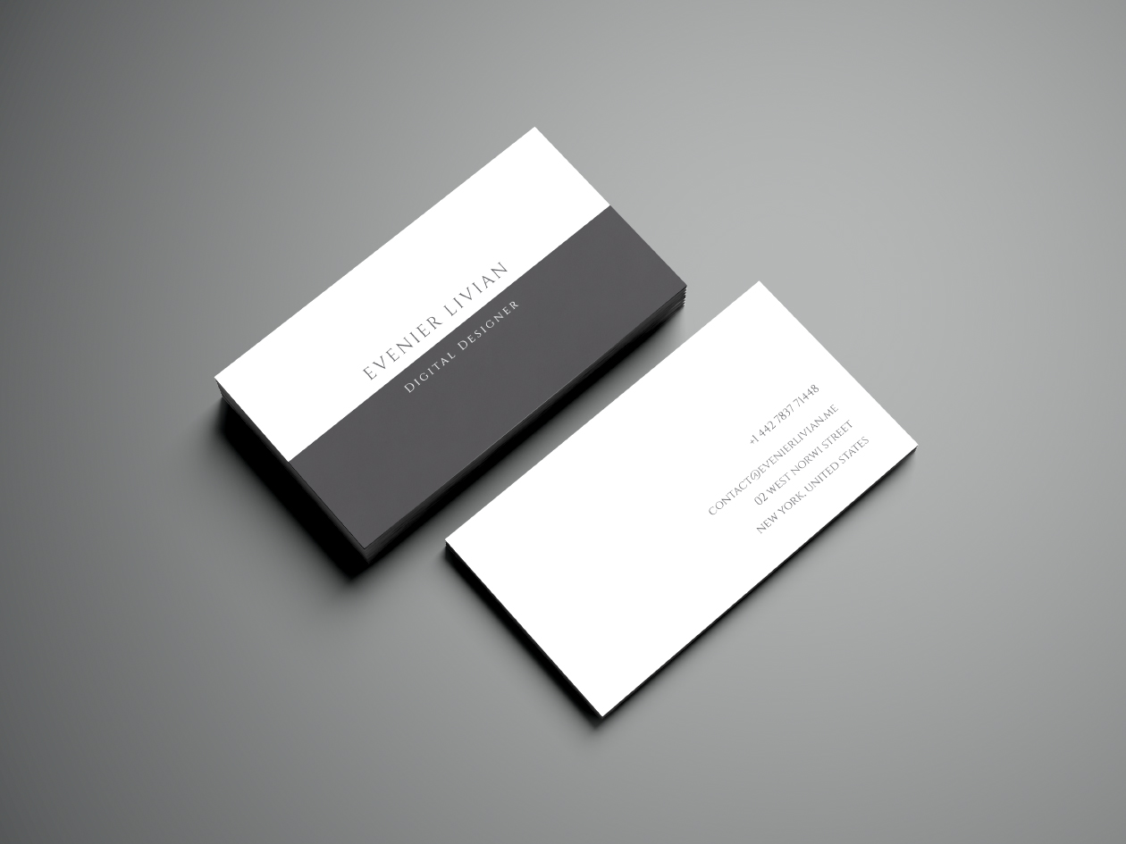 minimal business card template. Black Bedroom Furniture Sets. Home Design Ideas