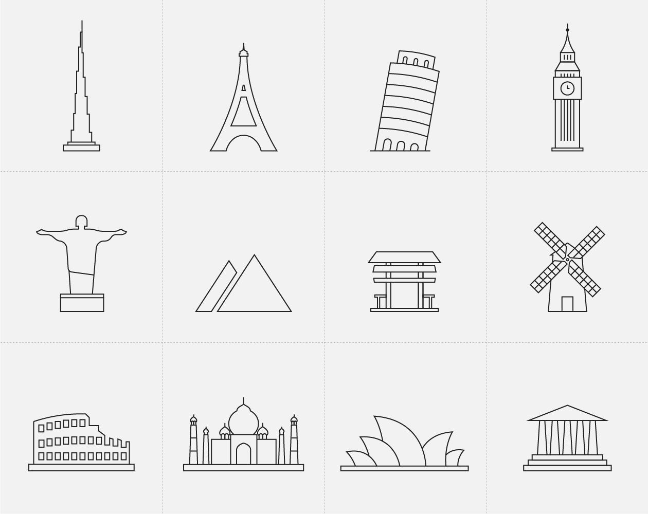 Landmark Icons Set 1