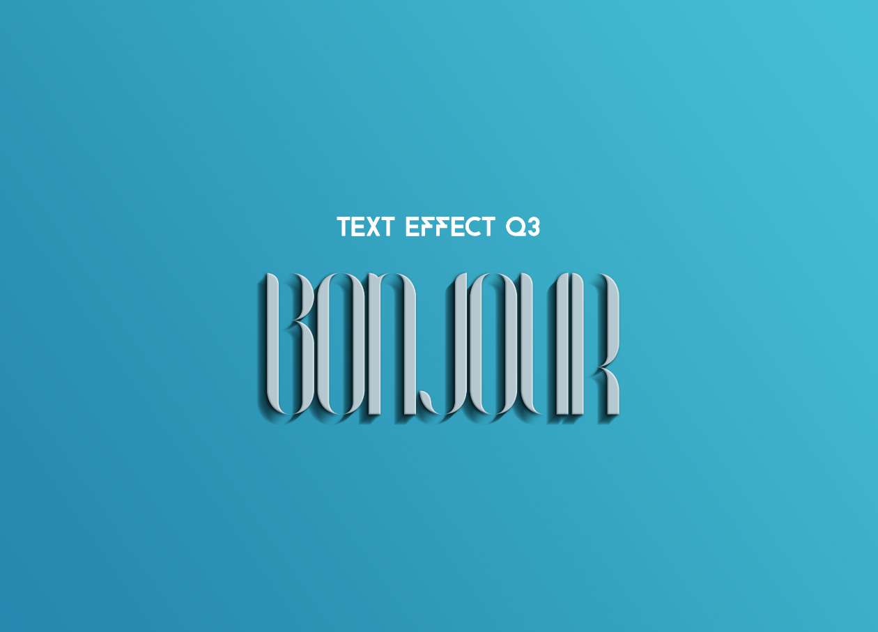 Blue Sky Text Effect