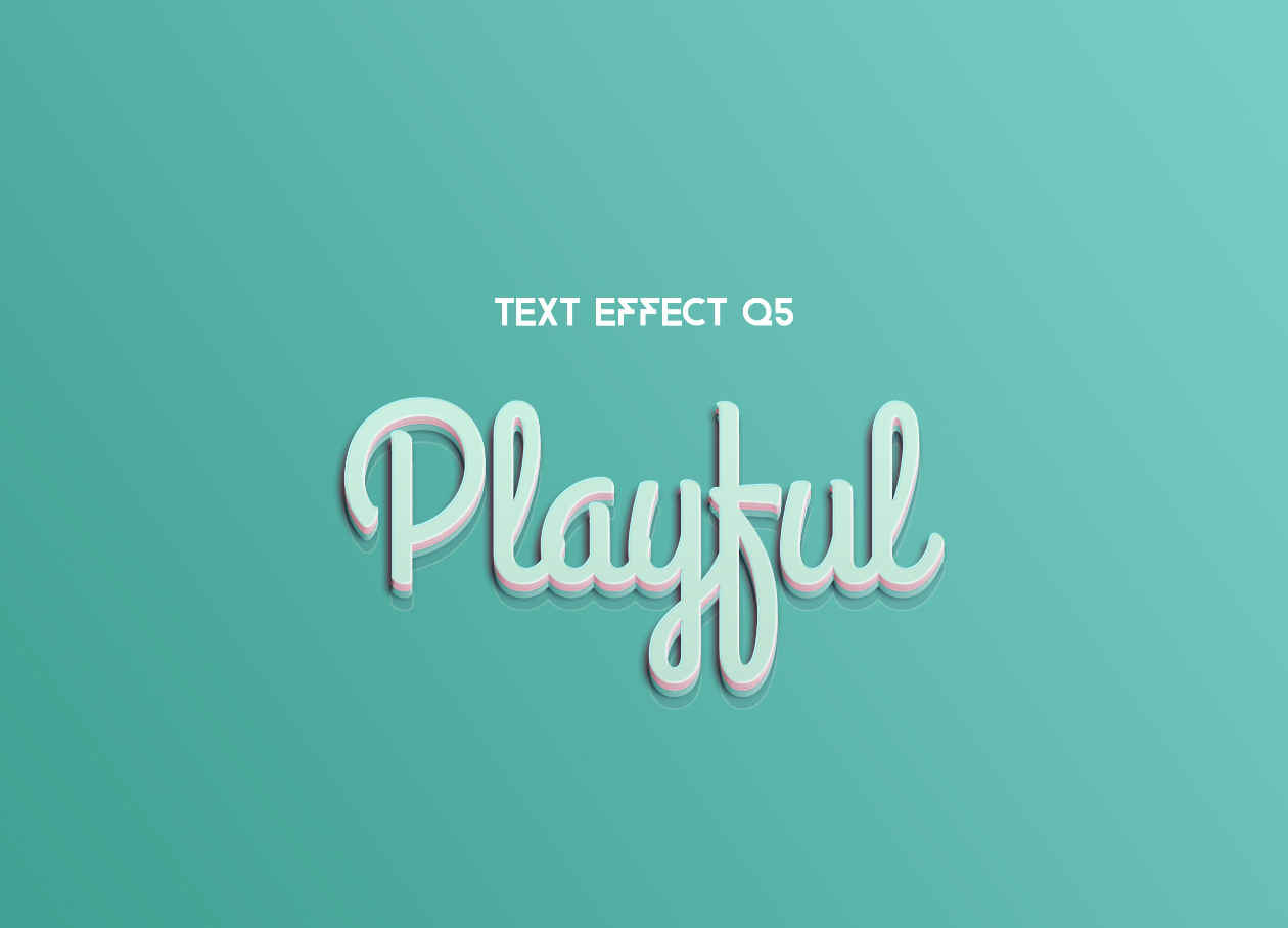 playful text effect