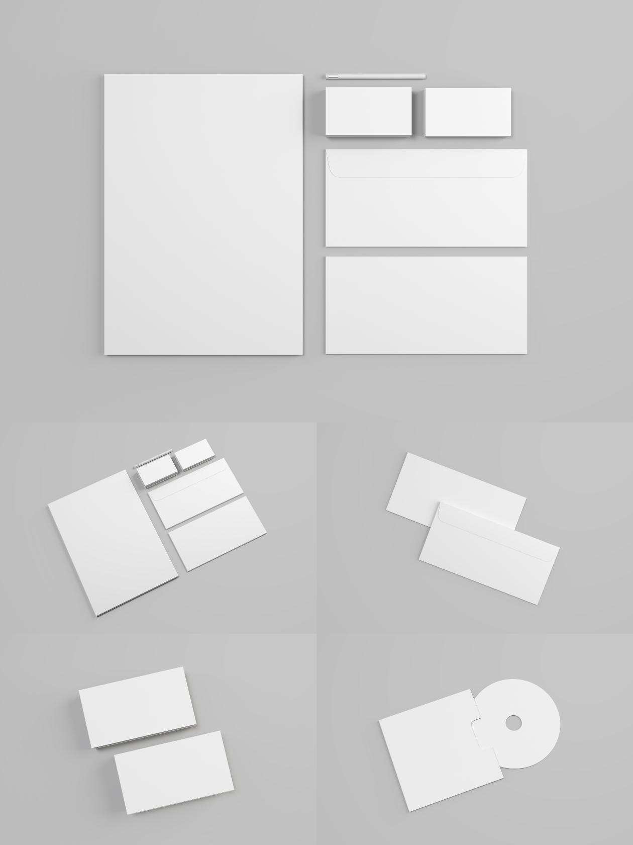 blank mockup stationery
