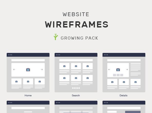 Wireframe Website Mockups