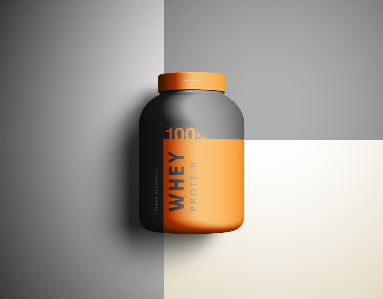 Supplement Jar Mockup
